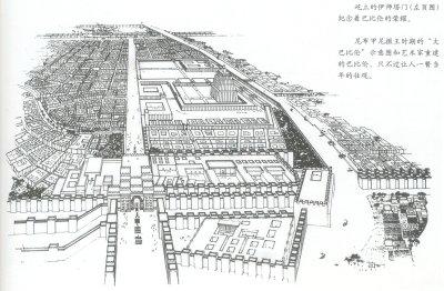 唐人街城门简笔画